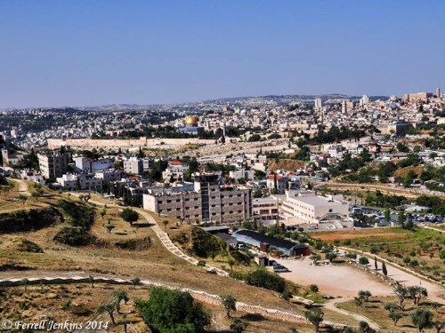 View of Jerusalem from the Mount Scopus Overlook. Photo by Ferrell Jenkins.