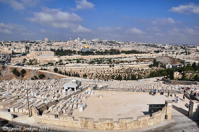 View of Jerusalem from the Mount of Olives. Photo by Ferrell Jenkins.