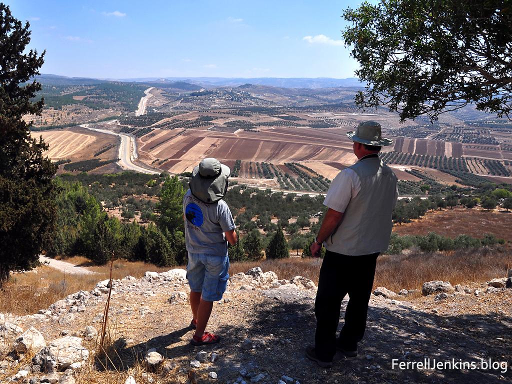 View from Tel Adullam. Photo: ferrelljenkins.blog.